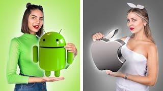 iOS против ANDROID / Если бы предметы были людьми!