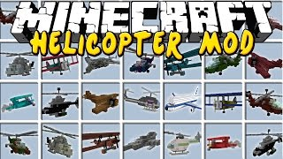 Minecraft HELICOPTER MOD! | CHOPPERS, JETS, PLANES, HELICOPTERS with GUNS! Modded Mini-Game