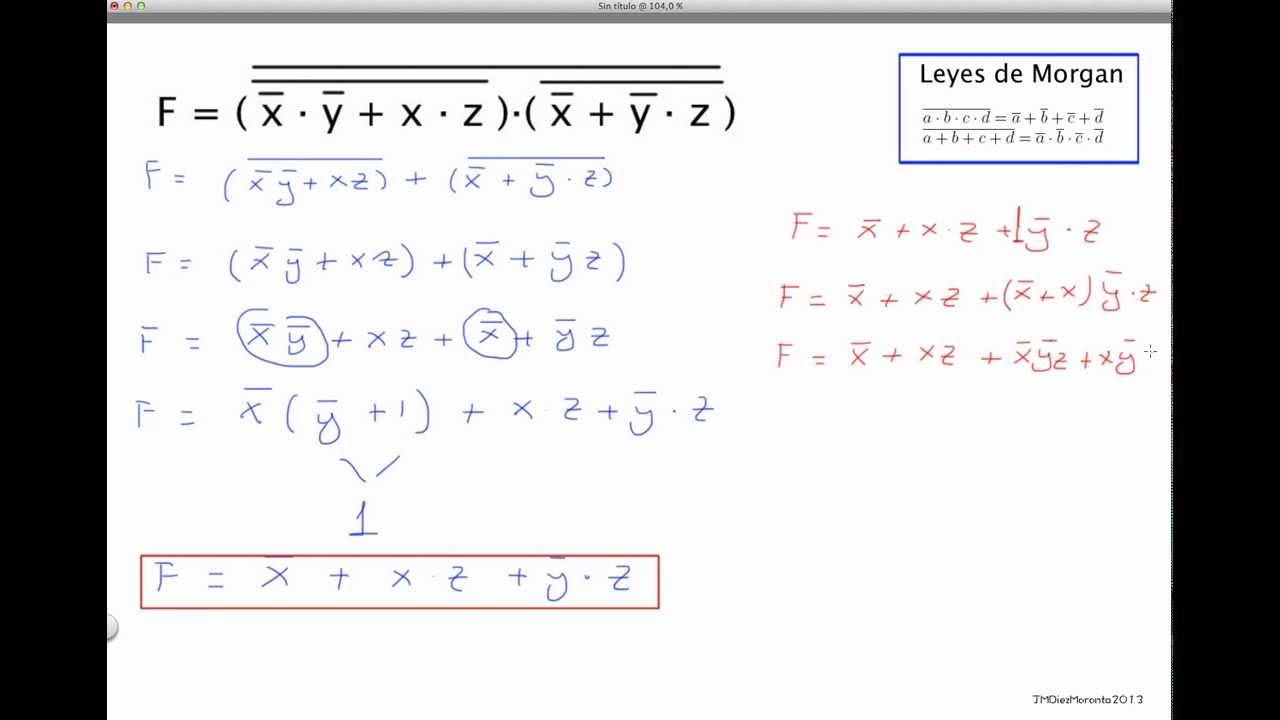 álgebra de boole ejercicios resueltos de simplificación pdf