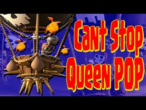 BEST LOW Hero Th9 Attack   Queen POP Unstoppable vs Anti 3 Star Base   Clash of Clans
