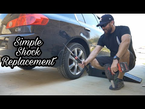 How to Replace Rear Shocks on Infiniti G35 KYB 344491 Excel-G Gas Shock