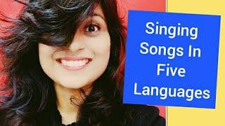 Singing Song in Five Languages Hindi, English, Oriya, Bengali & French. Songs For Children To Sleep