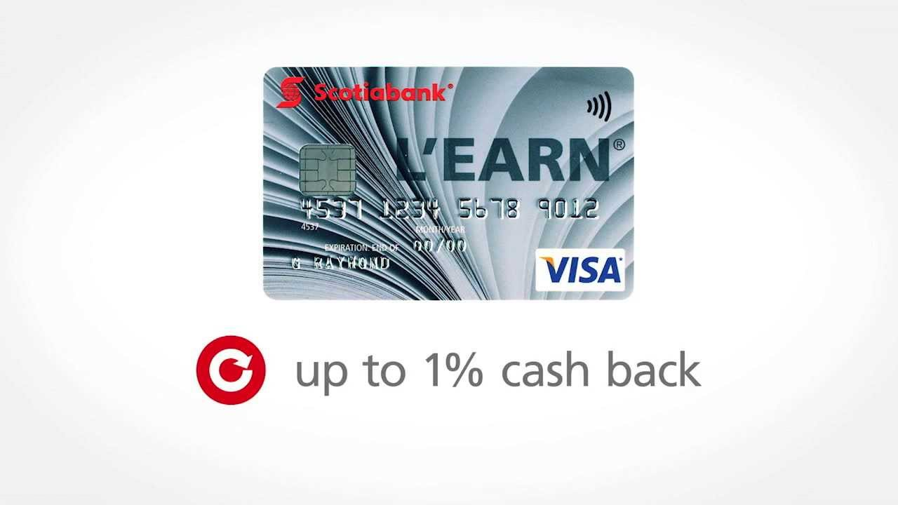 The Scotiabank L\'earn™ VISA* Card - YouTube