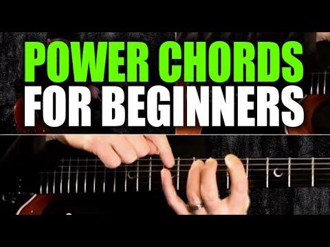 Beginner   guitar lesson on power chords also youtube rh
