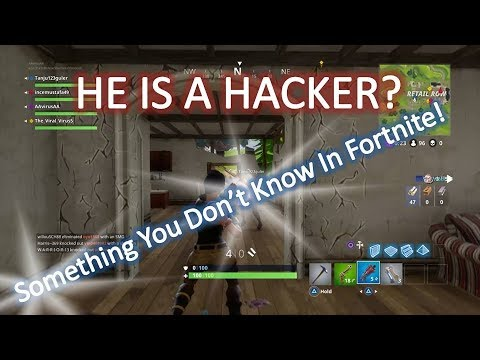 He is a hacker? Fortnite Finally... // funny moment