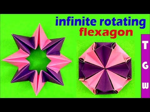 origami magic circle instructions make flexagon with