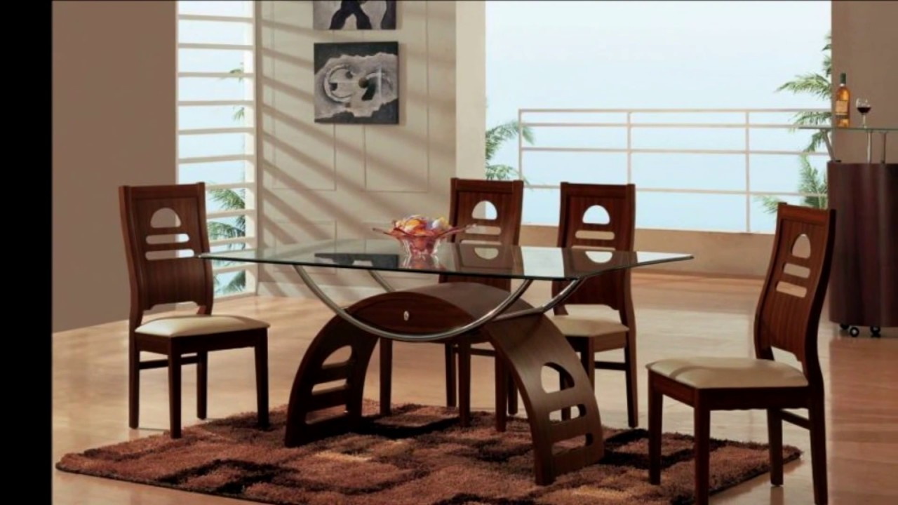 Amazing Rectangular Glass Top Dining Table With Wood Base Youtube