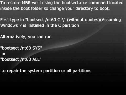 How To Restore MBR On Windows 7