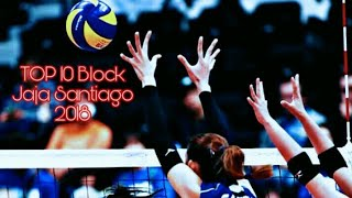 TOP 10 BEST BLOCKS | JAJA SANTIAGO JAPAN LEAGUE 2018