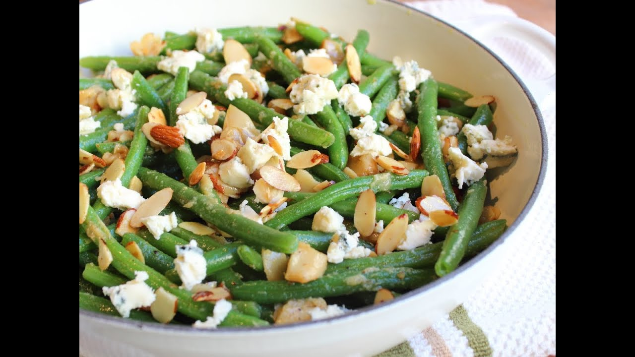Garlic & Blue Cheese Green Bean Almondine - Baked Green Bean with ...