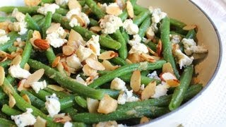 Garlic & Blue Cheese Green Bean Almondine - Baked Green Bean With Almonds Side Dish