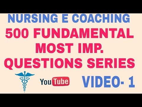 FUNDAMENTAL OF NURSING MOST IMP. QUESTION