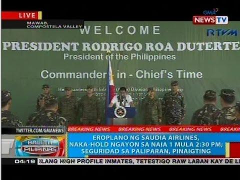 BP: Talumpati ni Pres. Duterte sa harap ng mga sundalo ng 10th Infantry Division