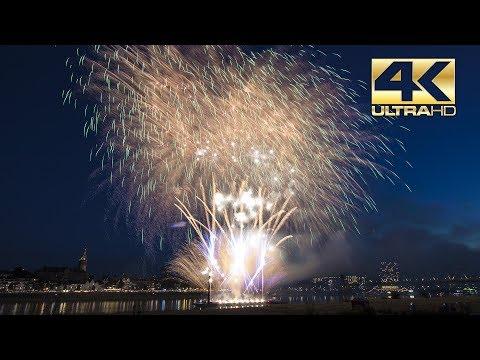 ⁽⁴ᴷ⁾ Nijmeegse Vierdaagse Vuurwerk 2018 - Nijmegen - Dream Fireworks Waal in Vlammen
