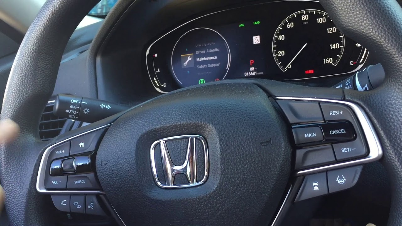 Honda Accord Maintenance Codes >> 2018 Honda Accord Reset Maintenance A1 Code Or Other Codes Youtube