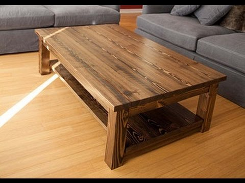 Solid Wood Coffee Table YouTube