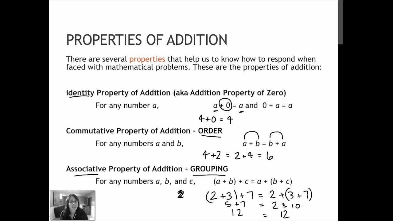 how to do properties of addition