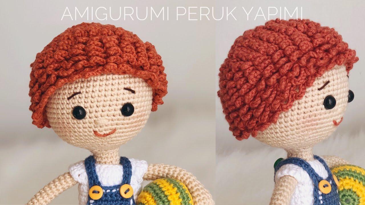 How to Make a Doll Wig: Free Crochet Pattern | FeltMagnet | 720x1280