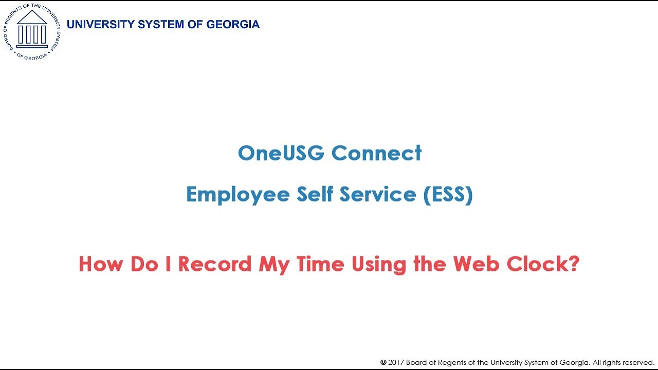Oneusg | Employee Self Service | University System of Georgia