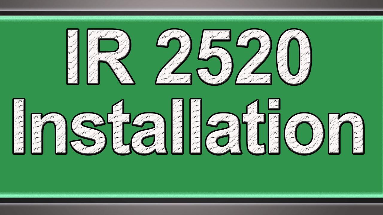 Canon ir 2520 installation