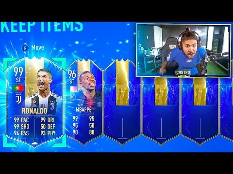 99 TOTS RONALDO & 96 MBAPPE IN SAME PACK!! BEST PACK EVER!! FIFA 19