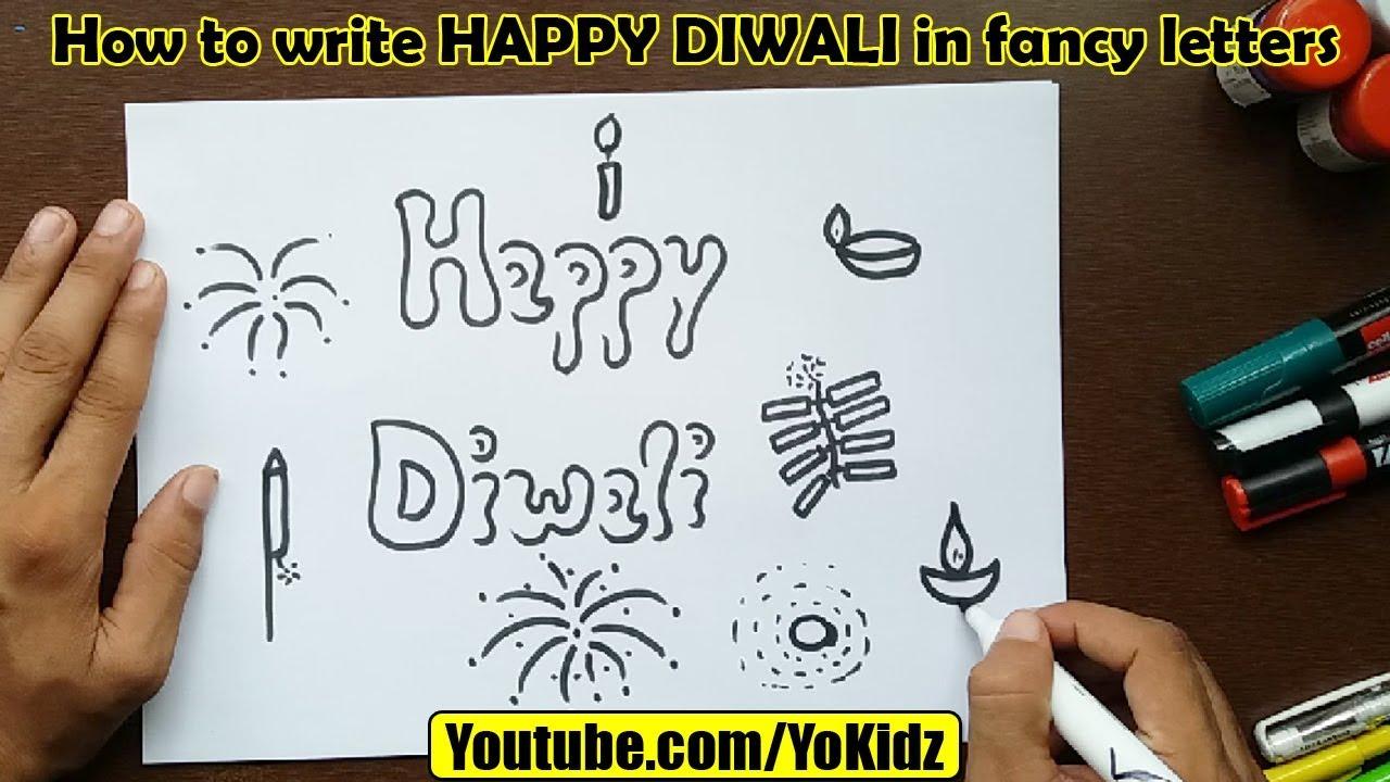 how to write happy diwali in fancy letters