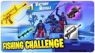 SOLO ARMI PESCATE !!! FORTNITE CHALLENGE - w/Ezektoor,Tuberanza,Teknoyd (Only Fish Loot)