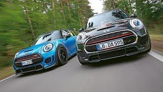 MG Performance-Mini JCW vs. Dynamic Automotive-Mini JCW: Test in Hockenheim | Kleiner Kurs | sport a