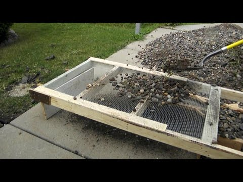 Cleaning out Landscape Rocks