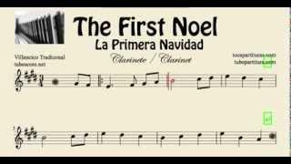 La Primera Navidad Partitura de Clarinete The First Noel
