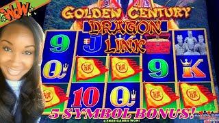 🎰🤗5 SYMBOL BONUS Trigger on Dragon Link Golden Century. Second Session over 100X Bonus win