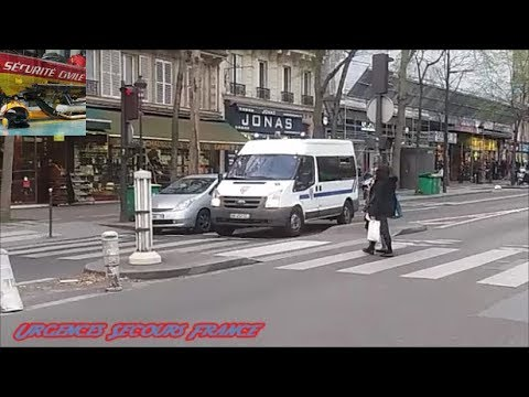 VOITURE POLICE ET FOUGON CRS / POLICE VEHICLE AND CRS VAN (POLICE NATIONALE-PARIS 75)