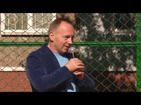 Телеканал «Дитинець»: На Шерстянці відкрили сучасне баскетбольне поле - це спільний проєкт міста та благодійника