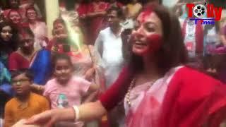 ঢাকের তালে নাচলেন কোয়েল মল্লিক এবং রঞ্জিত মল্লিক | Koel Mallick | Ranjit Mallick
