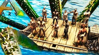 FEAR THE KRAKEN! Last Person On The Raft Wins BIG (Ark Survival Evolved)