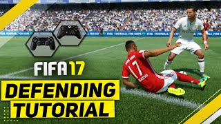 FIFA 17 DEFENDING TUTORIAL / How To Defend Effectively - BEST Way To TACKLE, CONTAIN & JOCKEY
