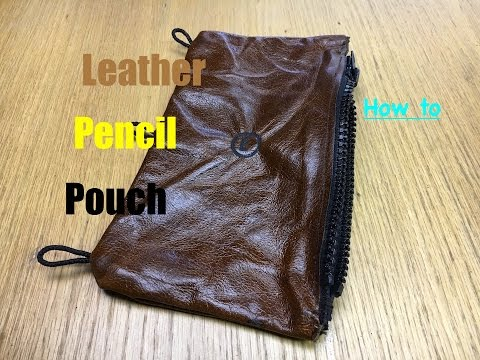How To Make a Leather Pencil Pouch For a Binder! | Water Buffalo Leather