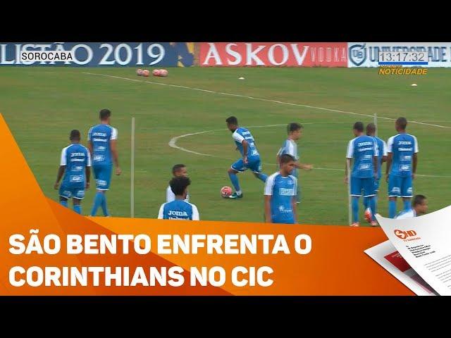 São Bento enfrenta o Corinthians no CIC - TV SOROCABA/SBT