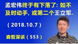 孟宏伟终于有下落了:北京如不及时动手, 他或成为第二个王立军.(2018.10.7) thumbnail
