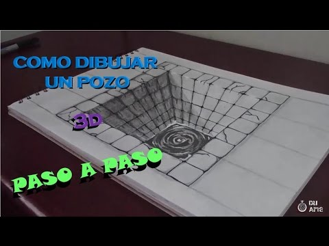 Como dibujar un pozo 3d paso a paso youtube for Dibujar un mueble en 3d