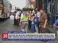 24 Oras: Dating ng bus na pansamatalang kapalit ng MRT, madalang kaya mga pasahero, nahirapan