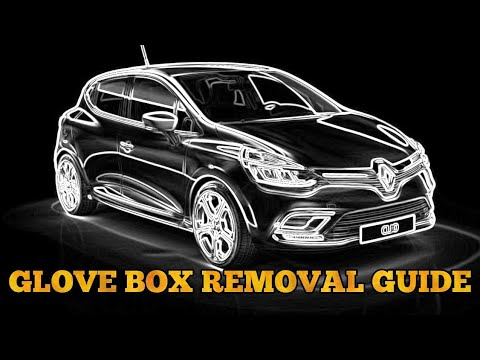 renault clio glove box removal how to(new shape) + fuse box location