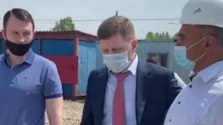 Губернатору Хабаровского края Сергею Фургалу новую школу пообещали сдать к концу года 1 июня 2020
