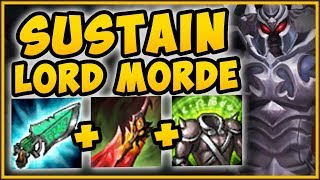 SUSTAIN LORD MORDE!? HIGHEST HEALING POSSIBLE?! SUSTAIN MORDEKAISER SEASON 9! - League of Legends
