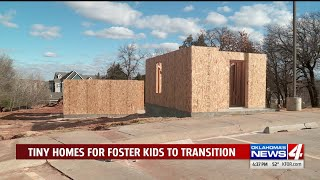 Construction begins on tiny homes for homeless youth