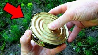 видео КАК БЫСТРО ОТКРЫТЬ КОНСЕРВНУЮ БАНКУ... Открываем консервную банку разными способами