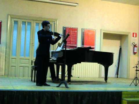 Saggio di violino di Giovanni Di Mauro presso il Conservatorio