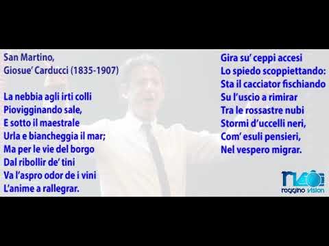 Poesia cantata da Fiorello - La nebbia agli irriti colli (testo)