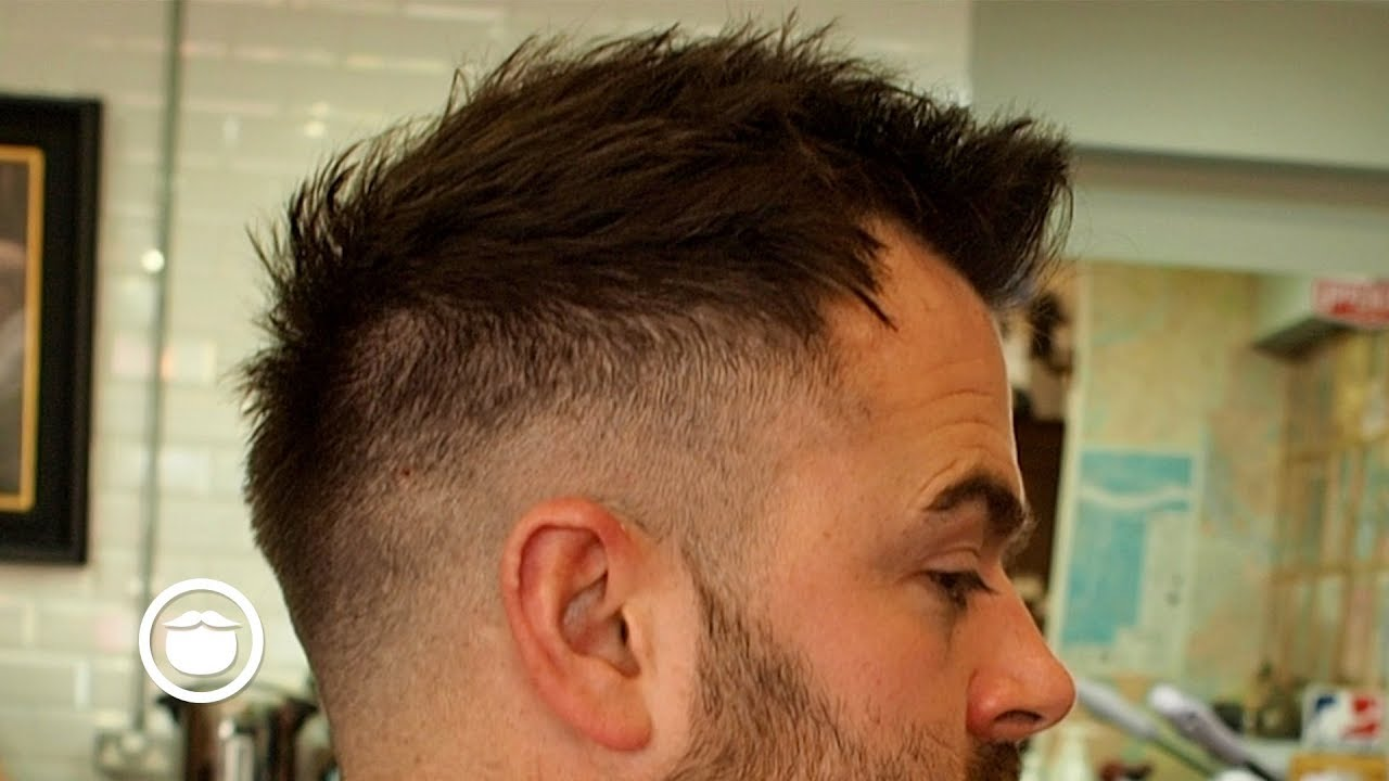 great haircut for high hairline with short beard trim