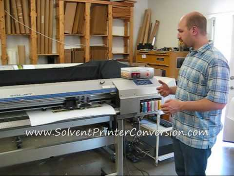 Roland Sc500 Eco Solvent Printer Cutter For Sale Youtube